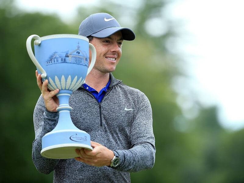 Rory McIlroy with his first PGA tour title of 2016